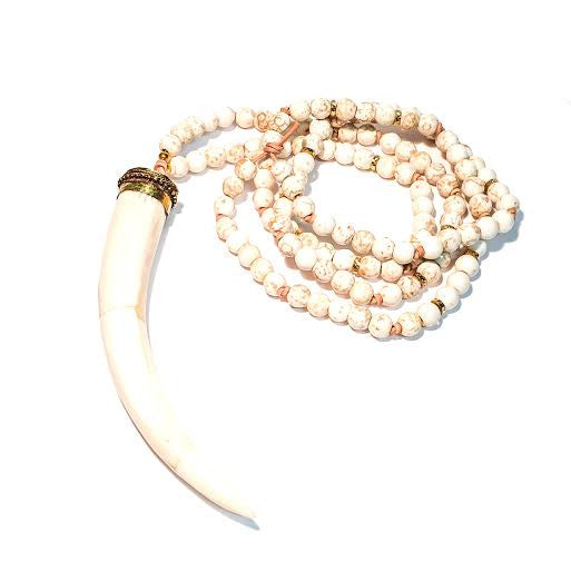WHITNEY Necklace in White Howlite