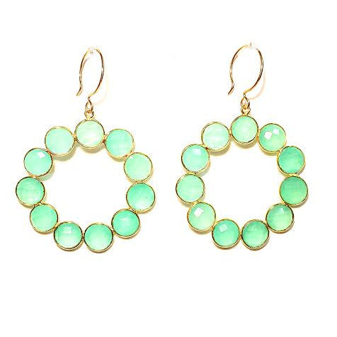 BRIANNA Earrings in Chalcedony