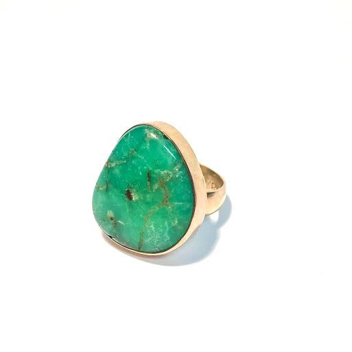 Chrysoprase Nugget Ring