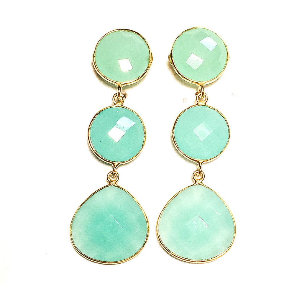 NINA Earrings in Chalcedony