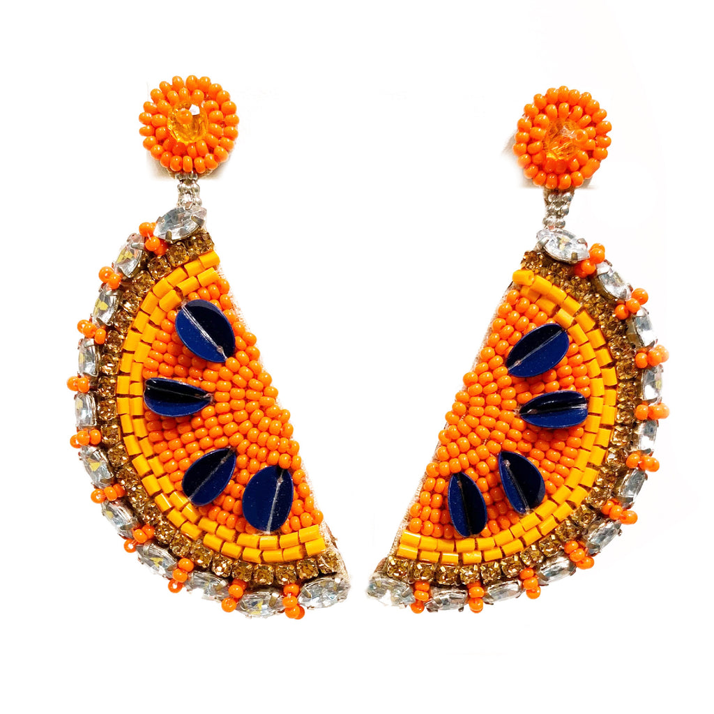 Slice Earrings in Orange