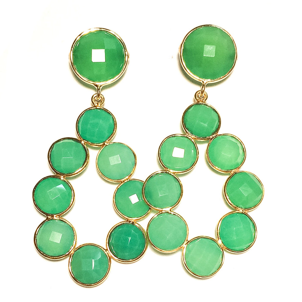 ELLEN Earrings in Chrysoprase