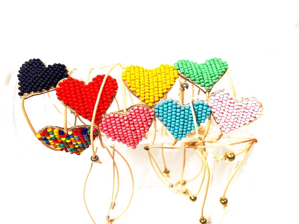 Heart Bracelets! Many Colors!