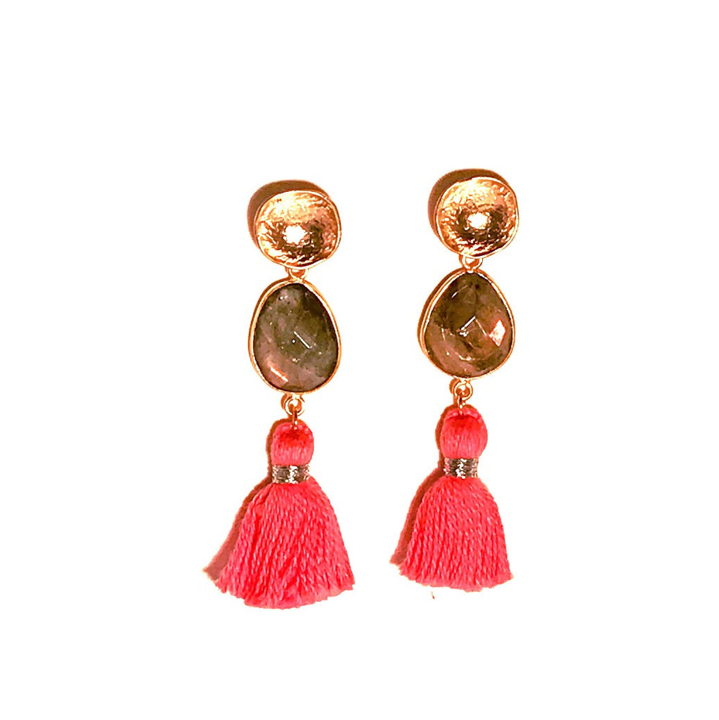 HE 695 Telfair Tassel Earrings
