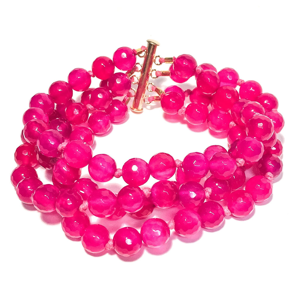 Laurel Bracelet, Hot Pink