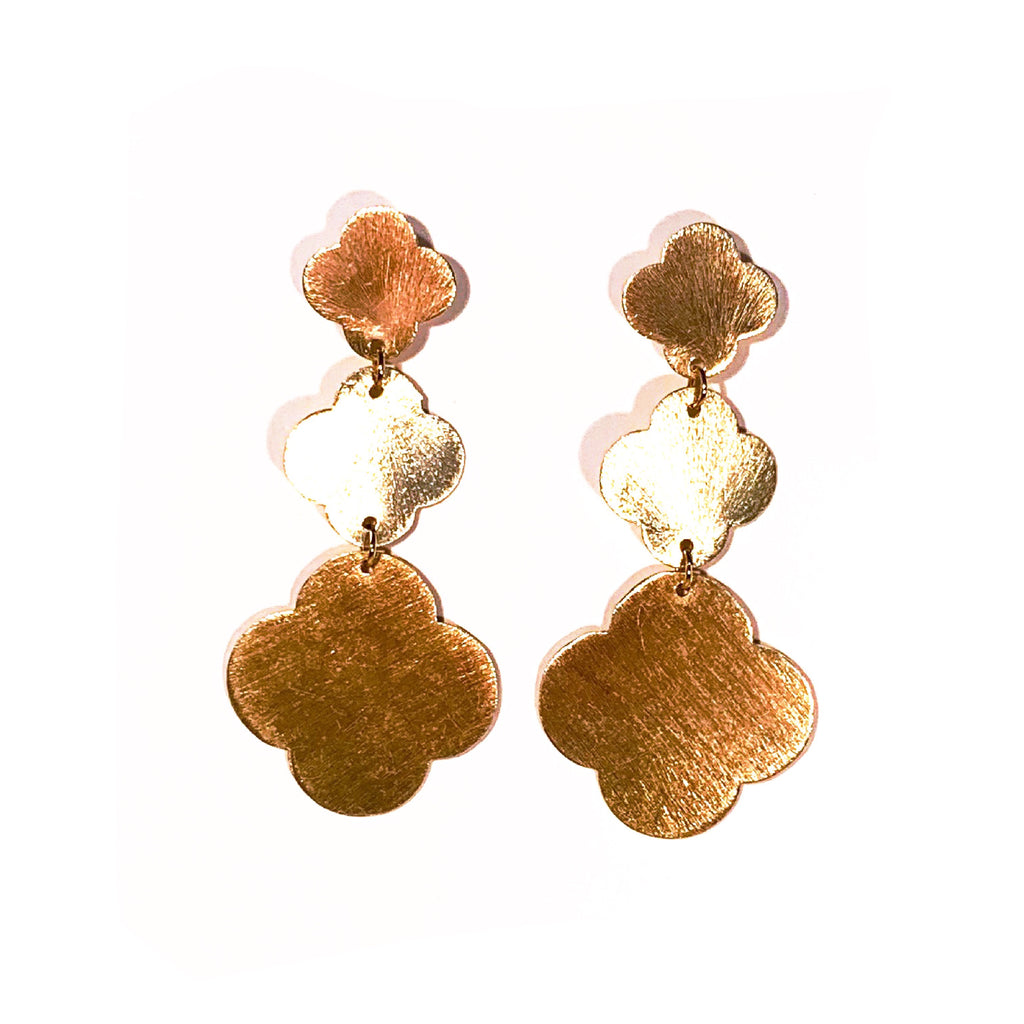 Triple Quatrefoil Earrings