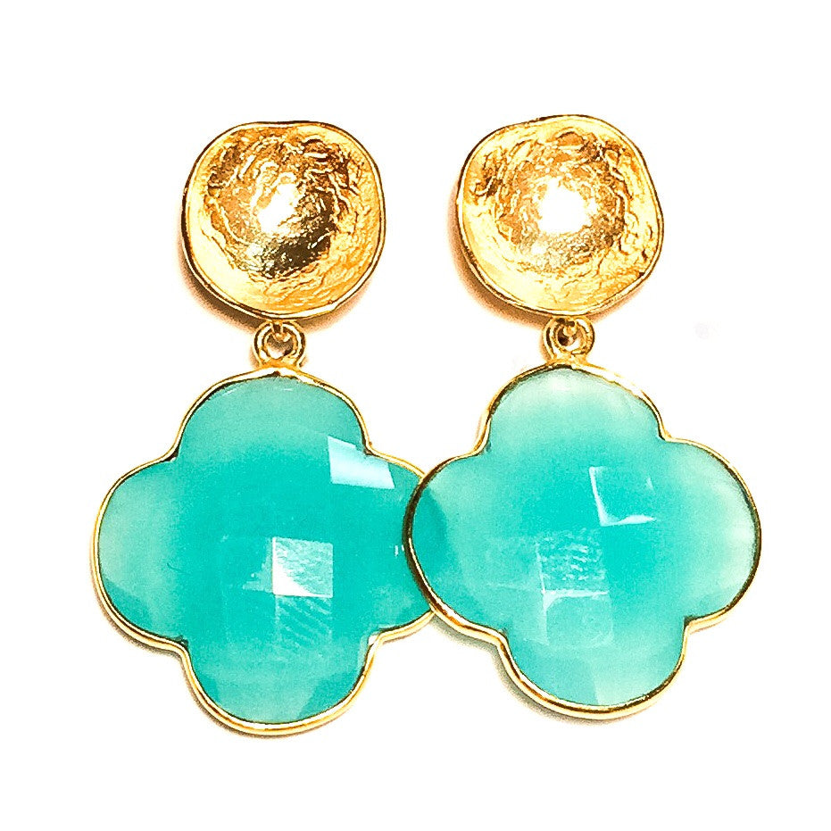EMMA Earrings in Chalcedony