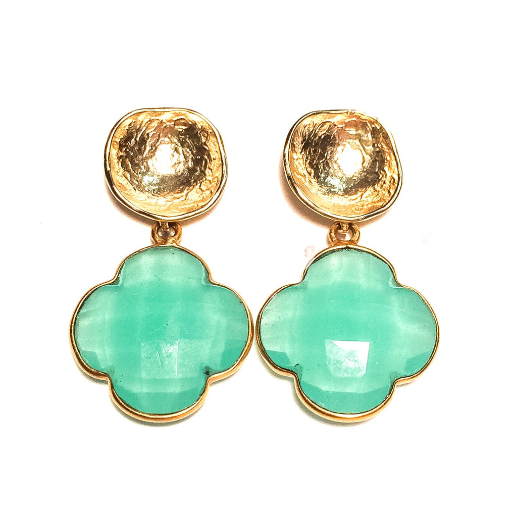 EMILY Earrings in Aqua Chalcedony