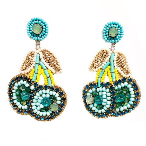 Cherry Earrings in Turquoise