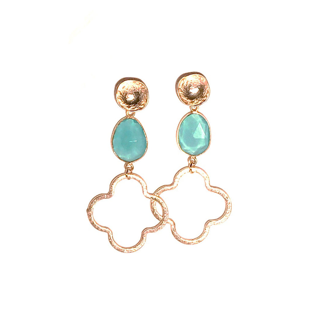 HE 658 Megan Earrings in Chalcedony Quatrefoil