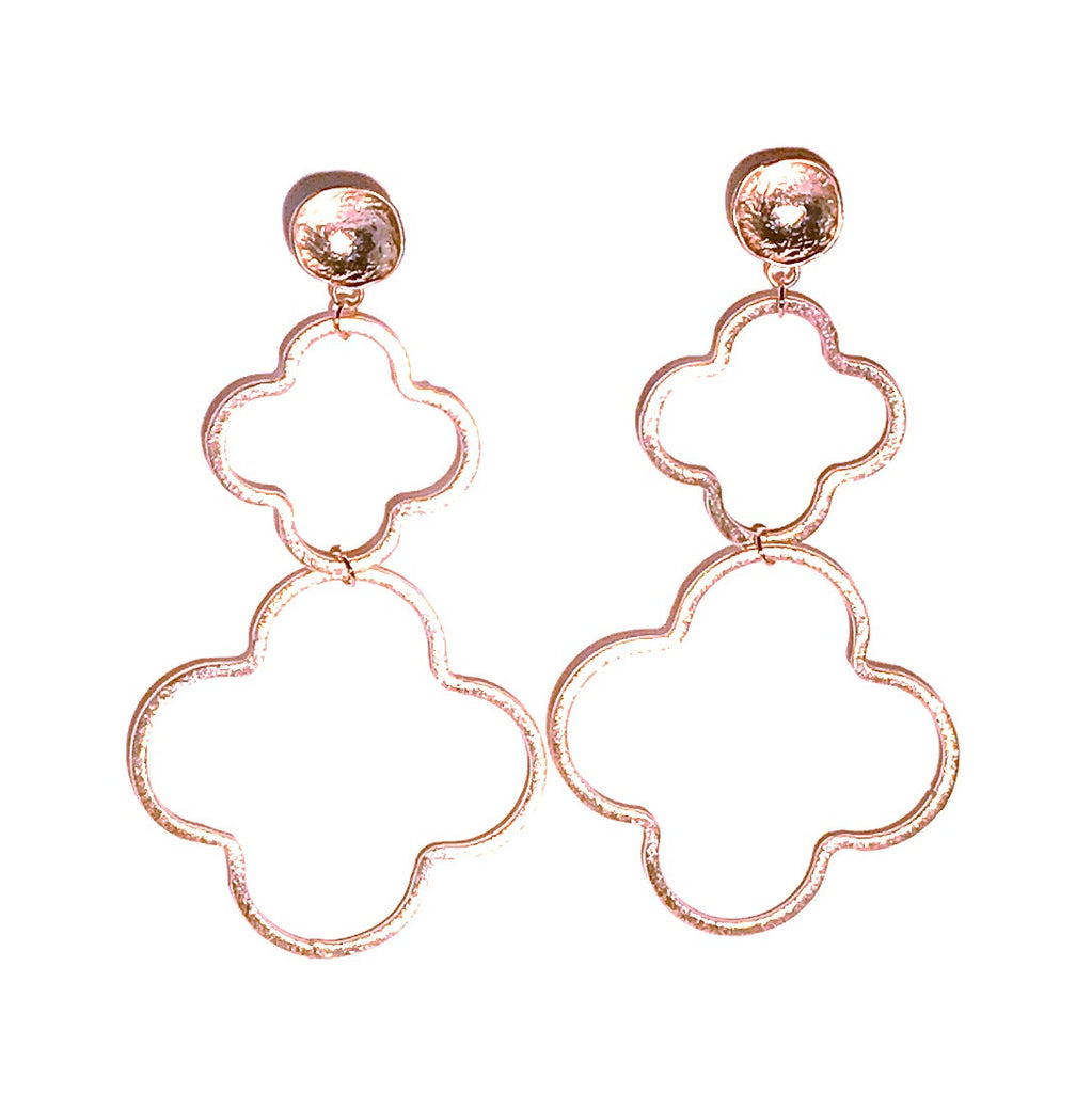 HE 655 Megan Earrings in Double Quatrefoil