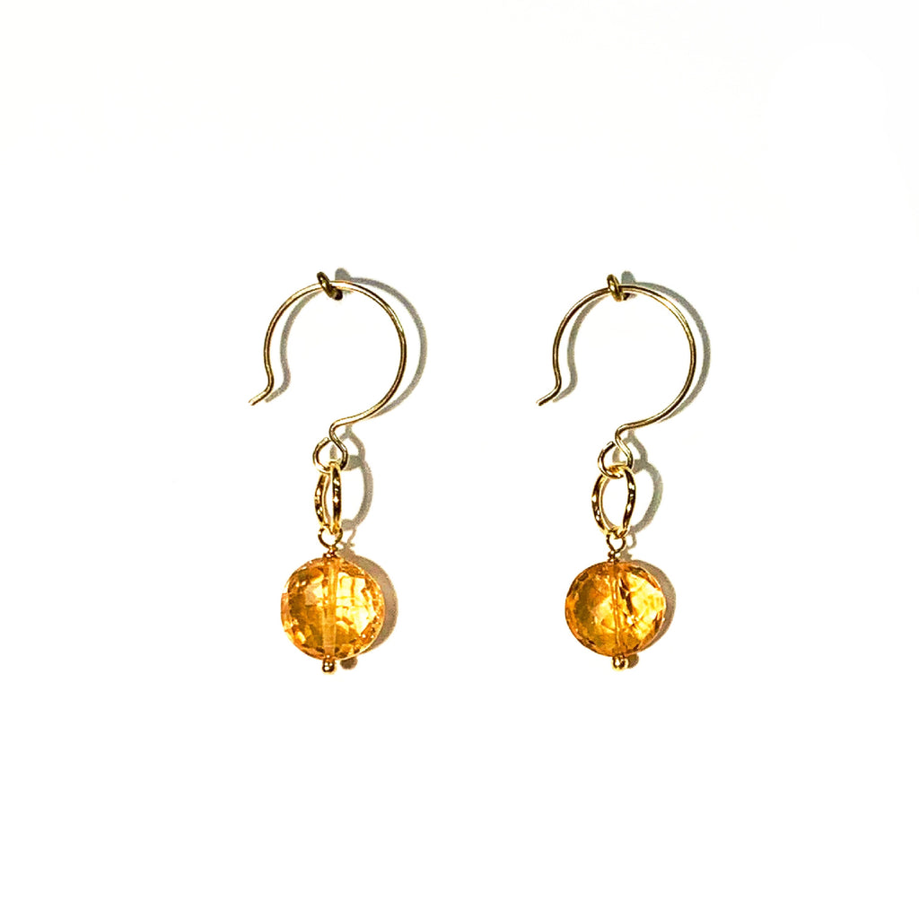 Citrine Single Stone Drop Earrings