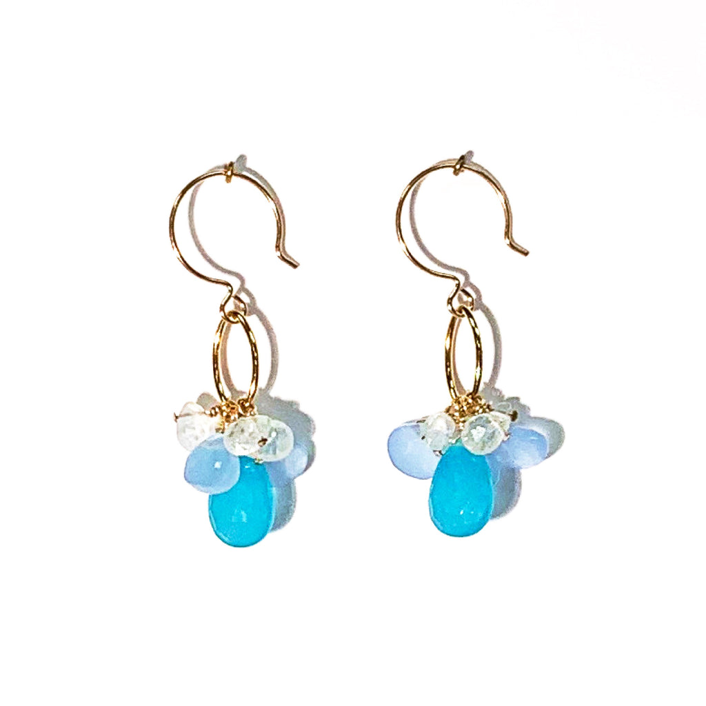 One of a Kind: Chalcedony & Moonstone Earrings