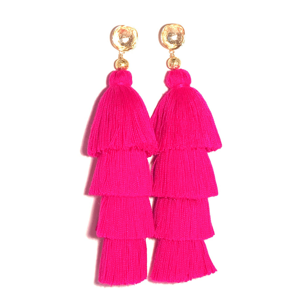 HE 750 Lillian Four Tassel Earrings