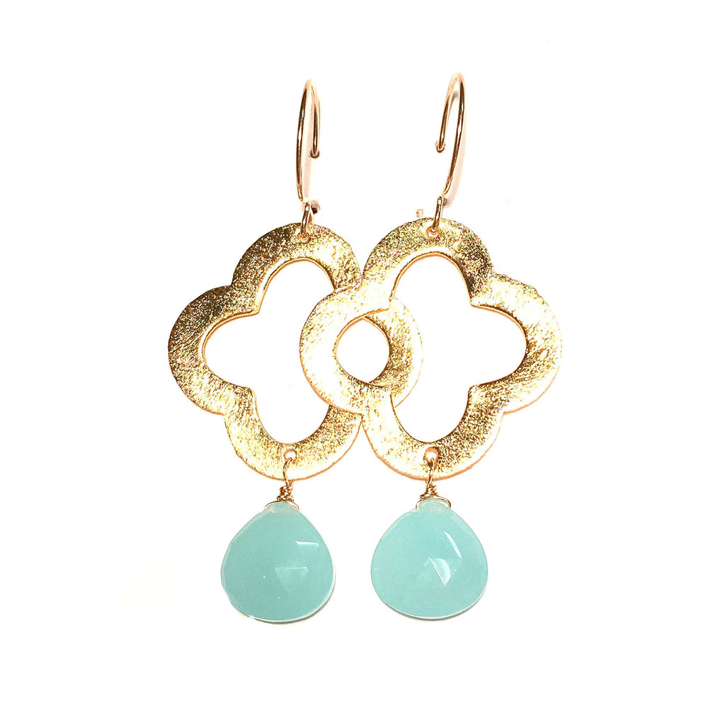 LIBBY Earrings in Aqua Chalcedony