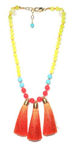 Triple Tassel Necklace, Hot & Cold