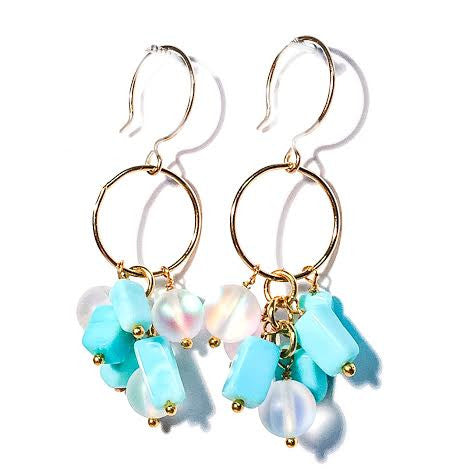 CLAUDIA Earrings in Peruvian Opal
