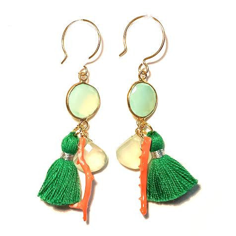 Tassel & Chalcedony Earrings