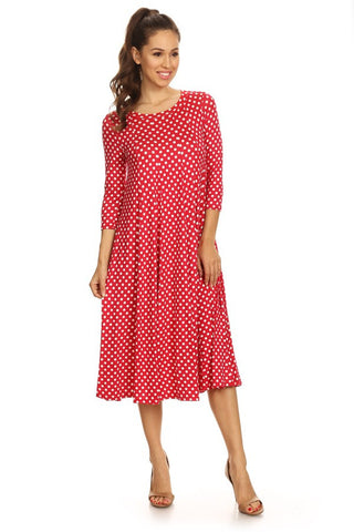 Little Polka Dot Swing Dress