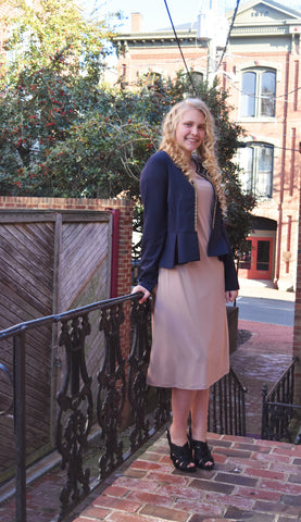 Peplum Blazer with Metal Trim