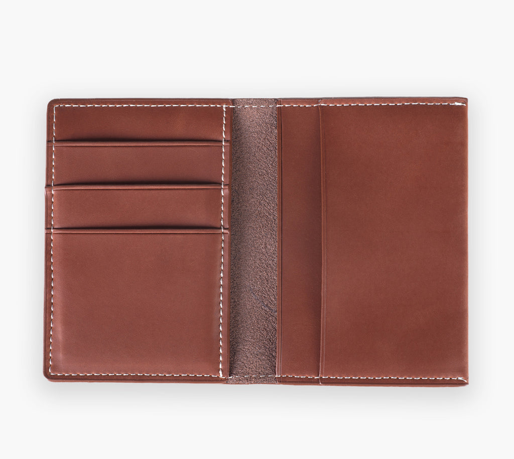 Slim Leather Wallet (Cherry Maple)