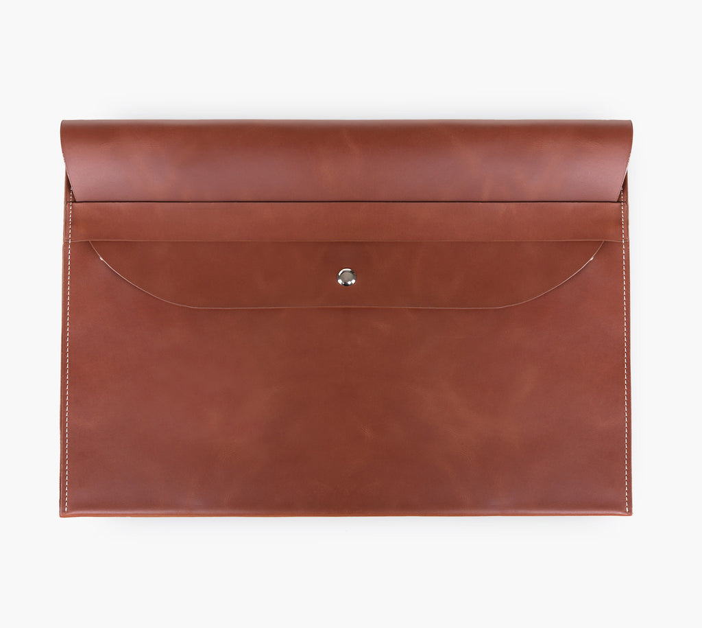 Slim Leather Laptop Sleeve (Cherry Maple)