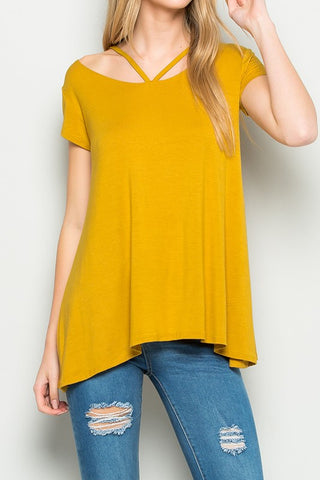 KARMAN Y-Neck Knit Top S-XL