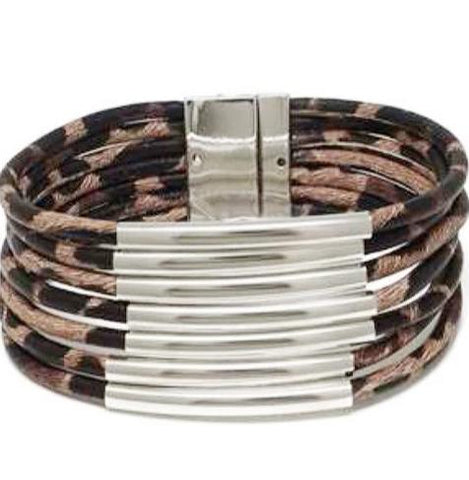 WILD KINGDOM Leopard Bar Bracelet!