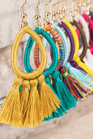 MOROCCAN CANDY Tassel Earrings