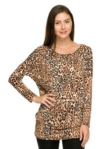 ANIMAL HOUSE Print Tunic Top