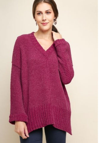 MERRY BERRY Soft Chenille Sweater