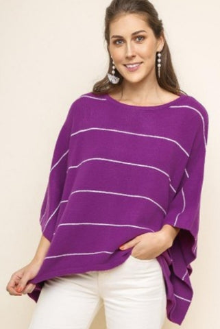 PURPLE HAZE Poncho Style Sweater