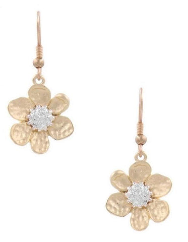 PICK ME Dainty Gold Flower Earrings