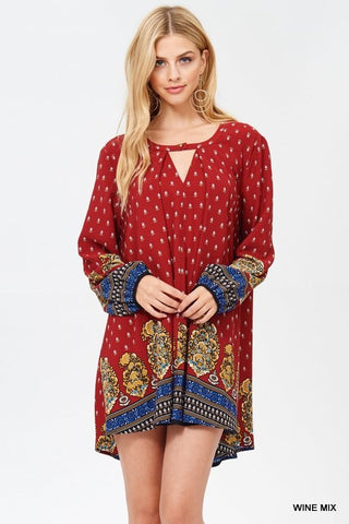 ROYAL FLING Tunic Dress