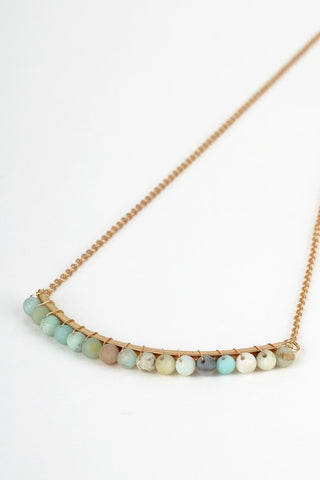 PLAYA Natural Stone Curved Necklace