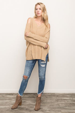 URBAN BOMBSHELL Mustard Sweater w/zipper