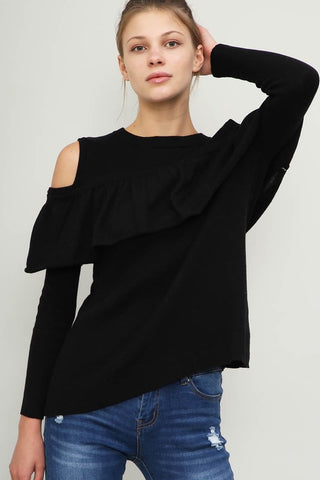 UNDER THE CANOPY Ruffle Sweater