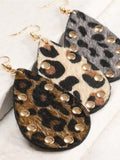 ANIMAL RALLY Studded Tear Drop Earring