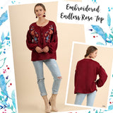 Embroidered ENDLESS ROSE Top