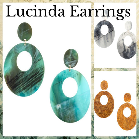 LUCINDA Acrylic Dangle Earrings