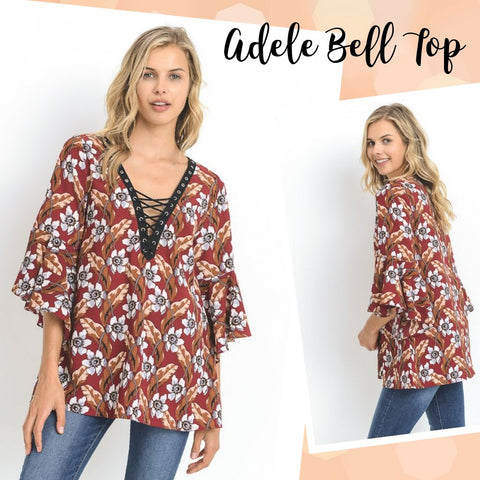 ADELE Bell Laced-Up Top