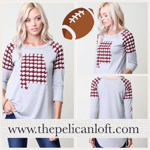 Alabama Roll Tide Elephant Hi/Lo Top. Also in Plus sizes
