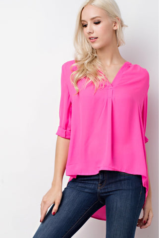EASTON 3/4 length Sleeve Top