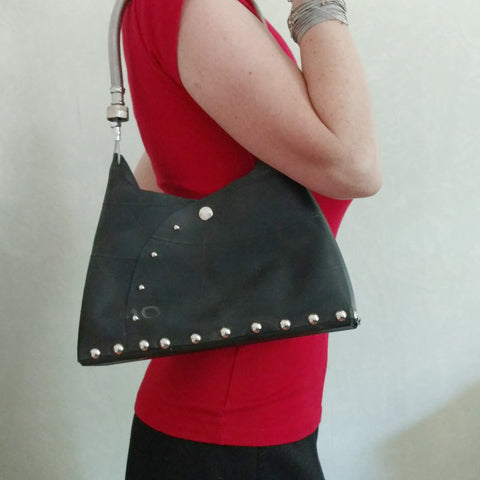 cruelty-free and vegan, upcycled inner tubes, funky and fun handbag from bagnanimous, handmade at Hardwear by Renee