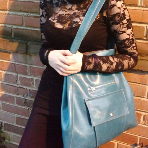 teal Crystalyn Kae metier tote from Bagnanimous