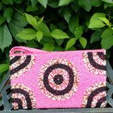 This handmade, beaded Indonesia clutch is fashionable, funky, and animal free.