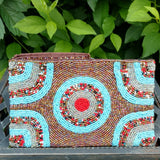 This handmade, beaded Indonesia clutch from Bagnanimous is fashionable, funky, and animal free.