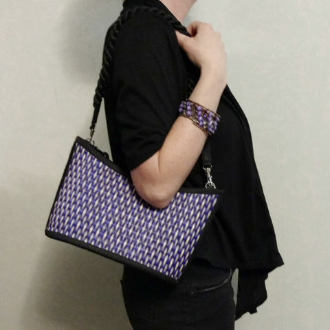 vegan, fair-trade, tatami handbag; cruelty free purse from Bagnanimous