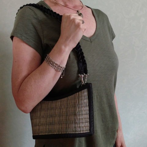 cruelty-free and vegan, tatami purse/handbag from Bagnanimous