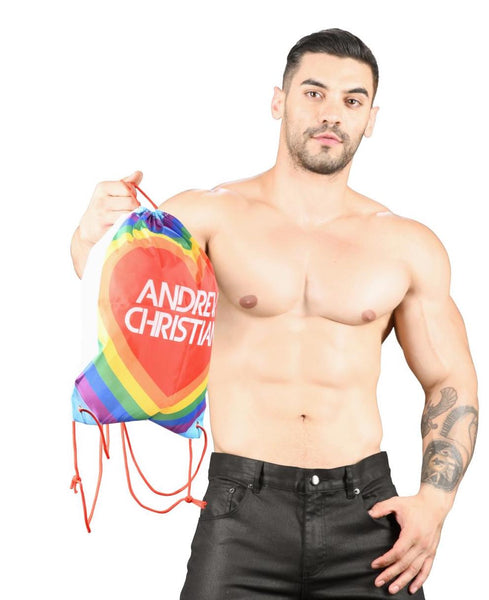 Andrew Christian Orgullo Gay Rainbow Pride Backpack Bandera Arcoiris
